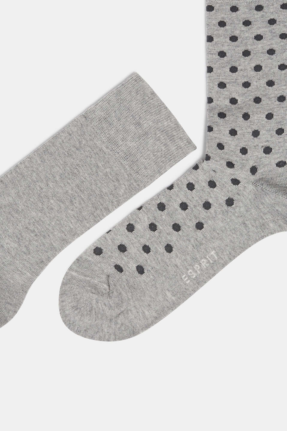 Double pack of socks with polka dots, LIGHT GREY, detail image number 1