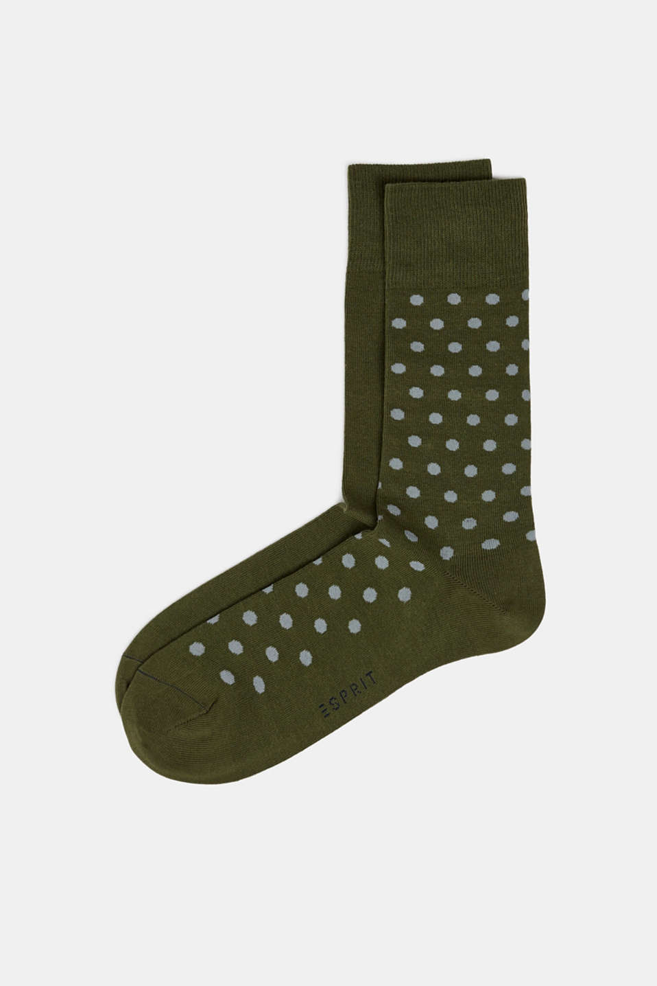 Double pack of socks with polka dots, DARK MOSS, detail image number 0