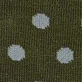Double pack of socks with polka dots, DARK MOSS, swatch