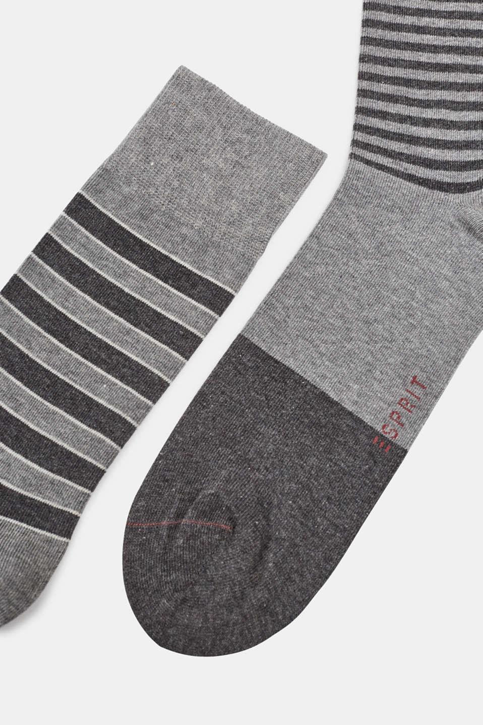 Socks in a triple pack, LIGHT GREY MELANGE, detail image number 1