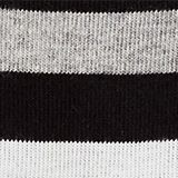 In a double pack: plain and striped socks, BLACK, swatch