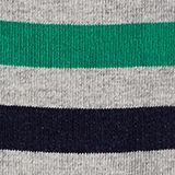 In a double pack: plain and striped socks, LIGHT GREY, swatch