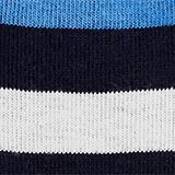 In a double pack: plain and striped socks, MARINE, swatch