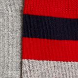 In a double pack: plain and striped socks, RED PEPPER, swatch