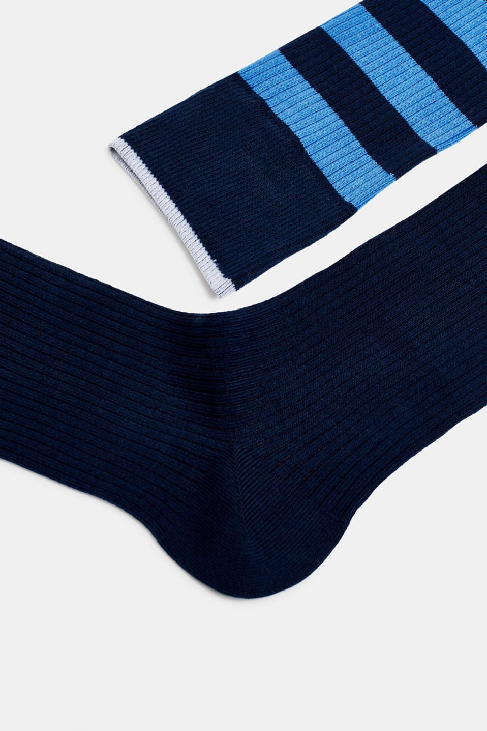 Double pack of socks with stripes, MARINE, detail image number 1