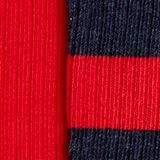Double pack of socks with stripes, RED PEPPER, swatch