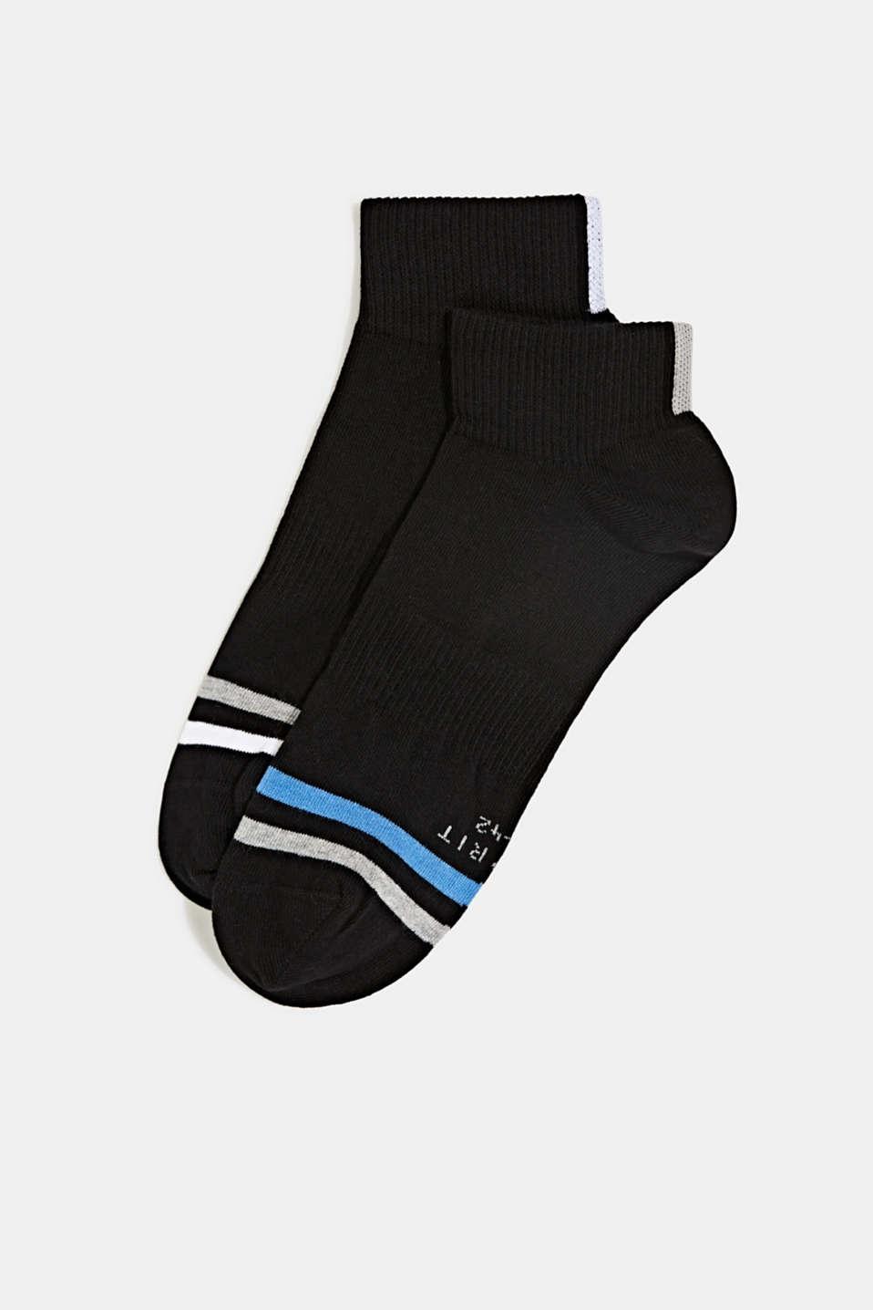 In a 2-pack: sporty trainer socks, BLACK, detail image number 0