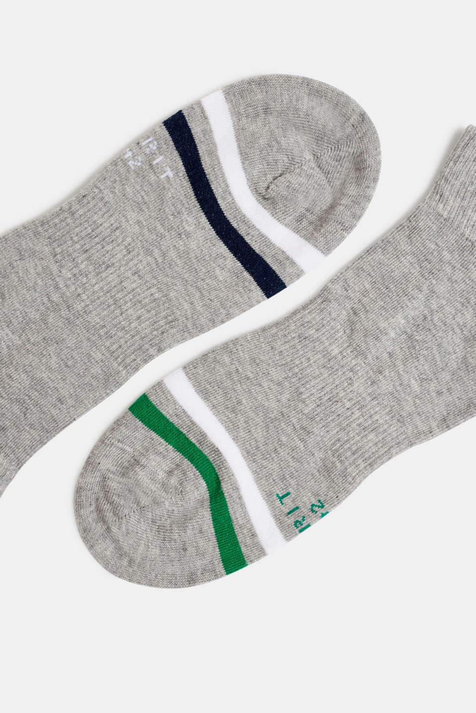 In a 2-pack: sporty trainer socks, LIGHT GREY, detail image number 1