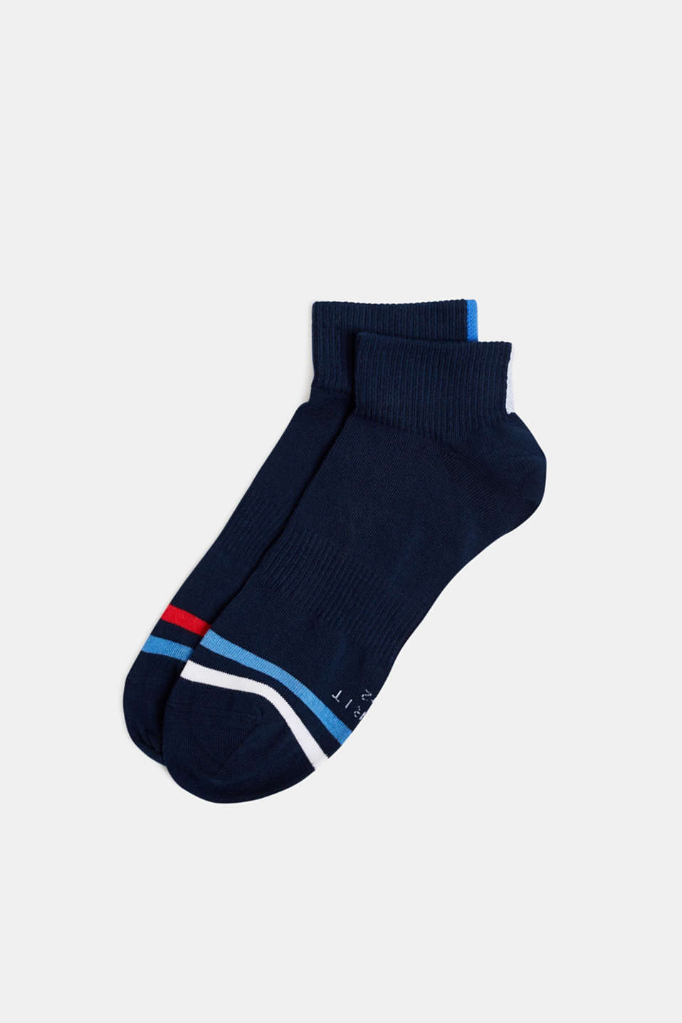 In a 2-pack: sporty trainer socks, MARINE, detail image number 0