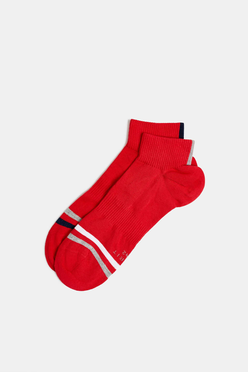 In a 2-pack: sporty trainer socks, RED PEPPER, detail image number 0