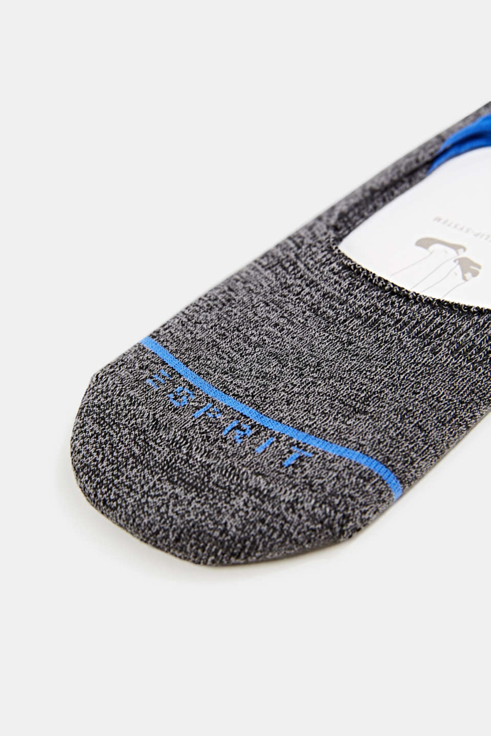 Double pack of trainer socks with an anti--slip finish, BLACK, detail image number 1