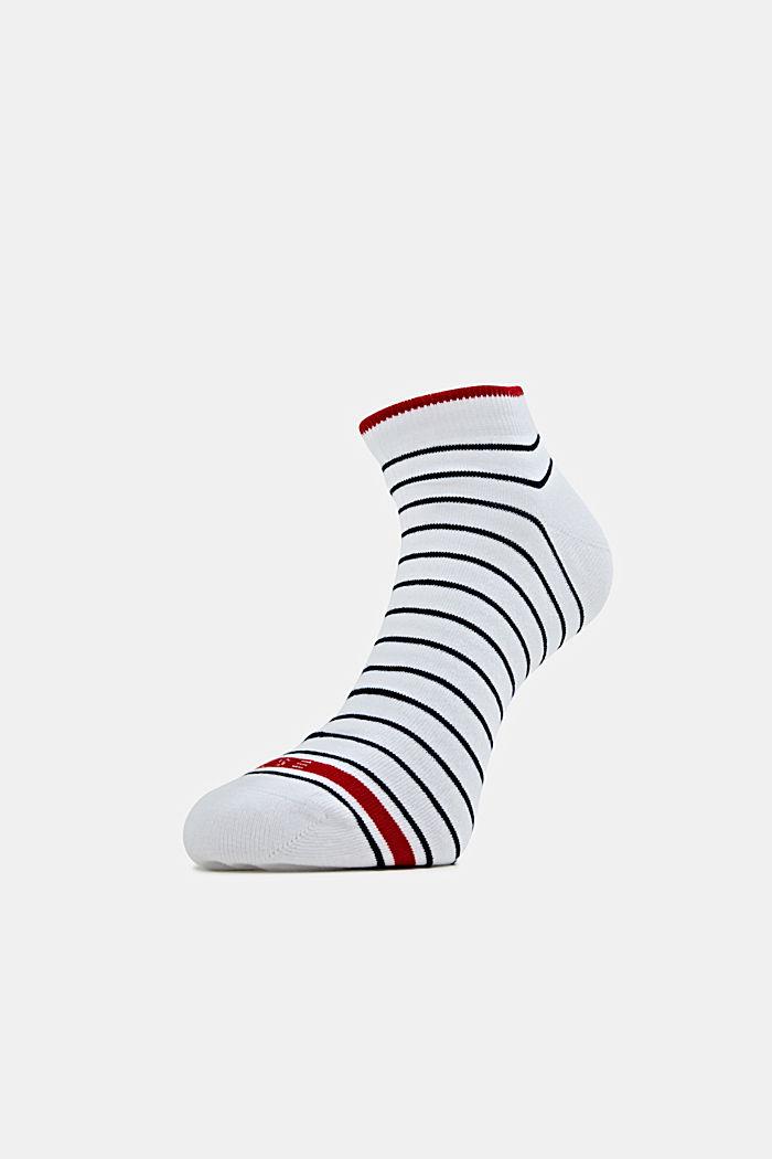 Triple pack: striped trainer socks, RED/WHITE/BLACK, detail image number 0