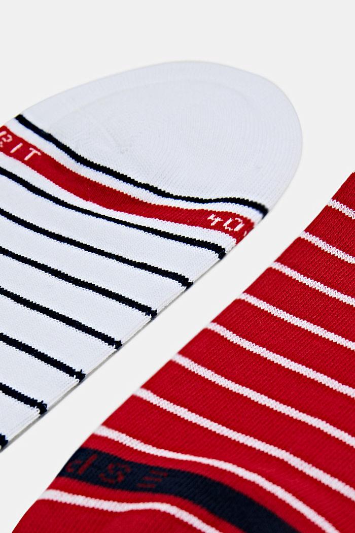 Triple pack: striped trainer socks, RED/WHITE/BLACK, detail image number 1