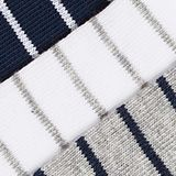 Triple pack: striped trainer socks, SORTIMENT, swatch