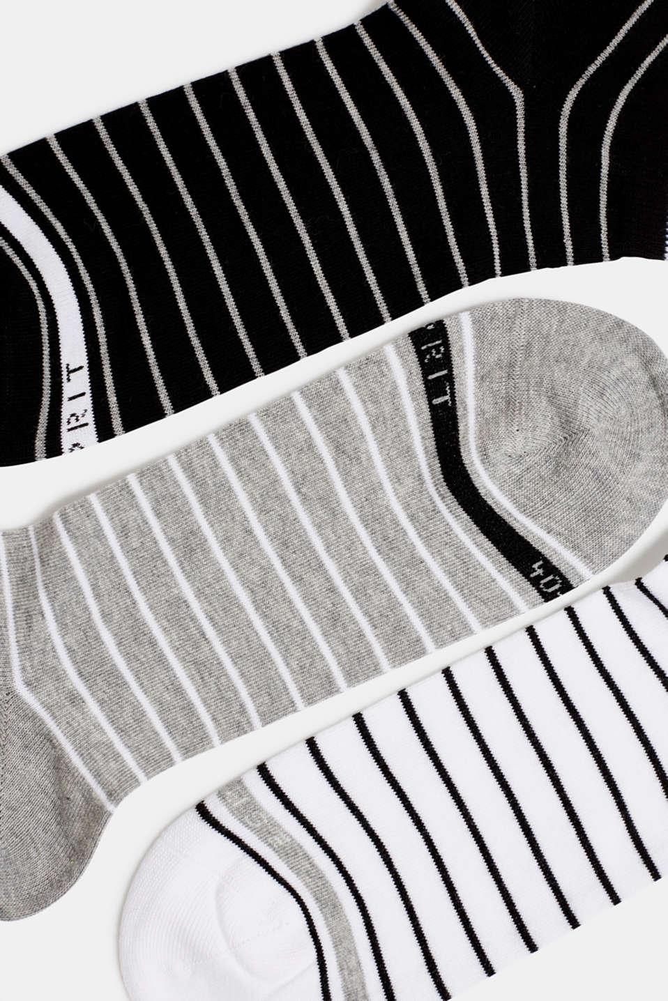 Triple pack: striped trainer socks, SORTIMENT, detail image number 1