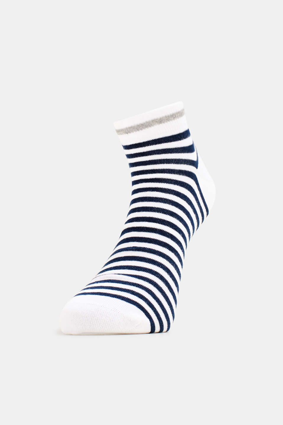 Five pack of trainer socks, WHITE, detail image number 2