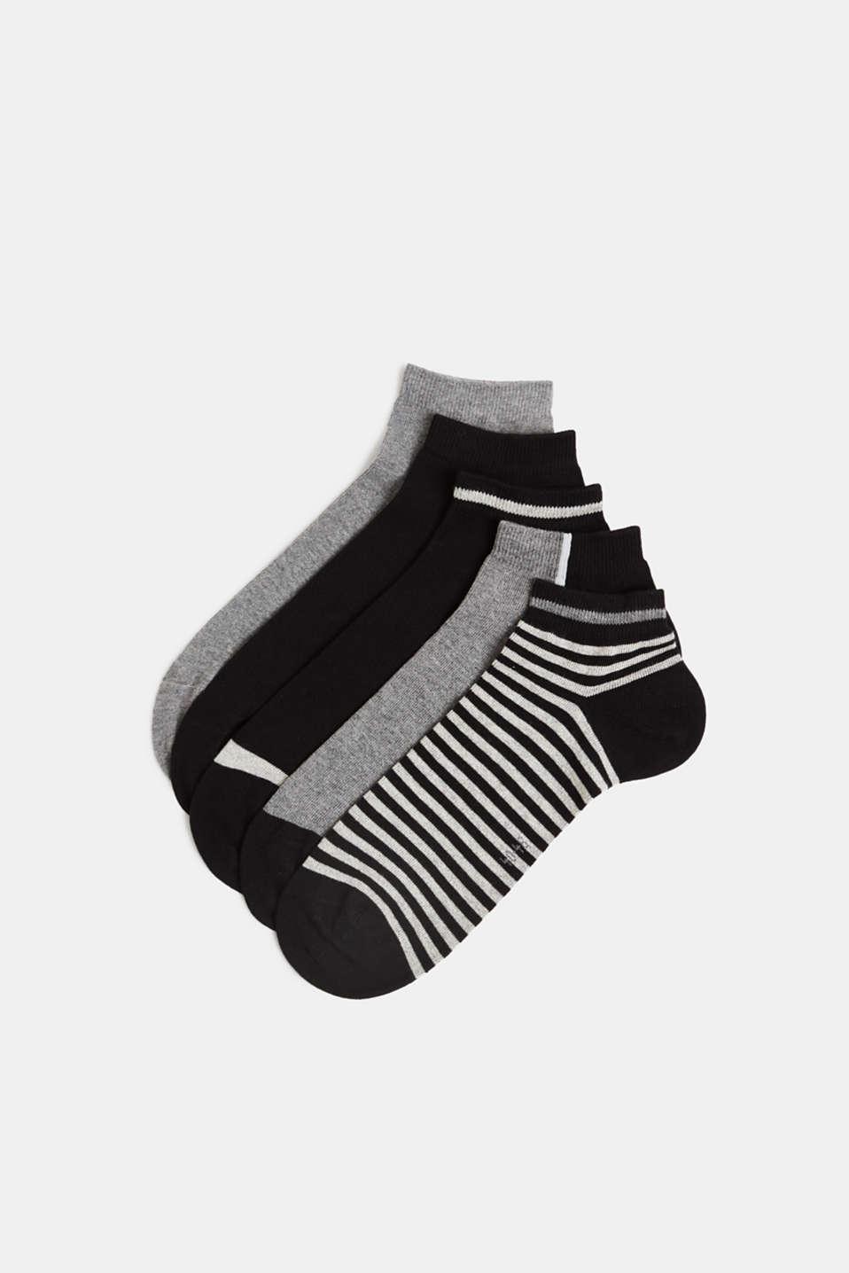 Five pack of trainer socks, BLACK, detail image number 0