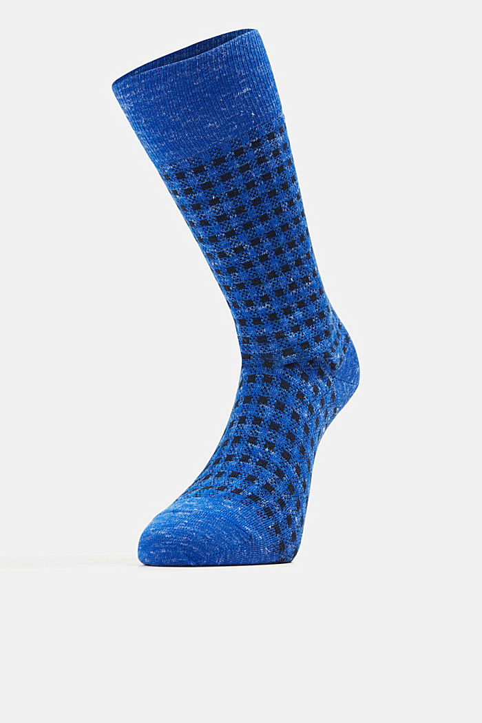 Wool blend with linen: Double pack of socks, DEEP BLUE, detail image number 2