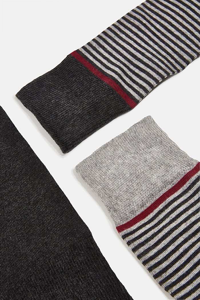 Gift box containing a triple pack of socks, ANTHRACITE MELANGE, detail image number 1