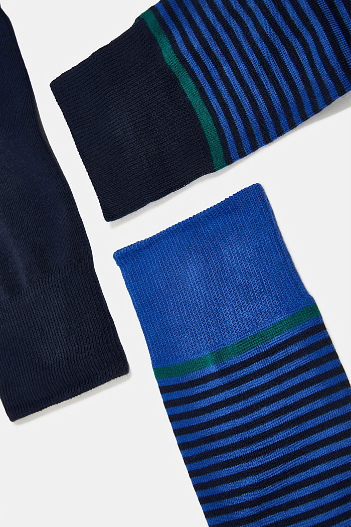 Gift box containing a triple pack of socks, MARINE, detail image number 1