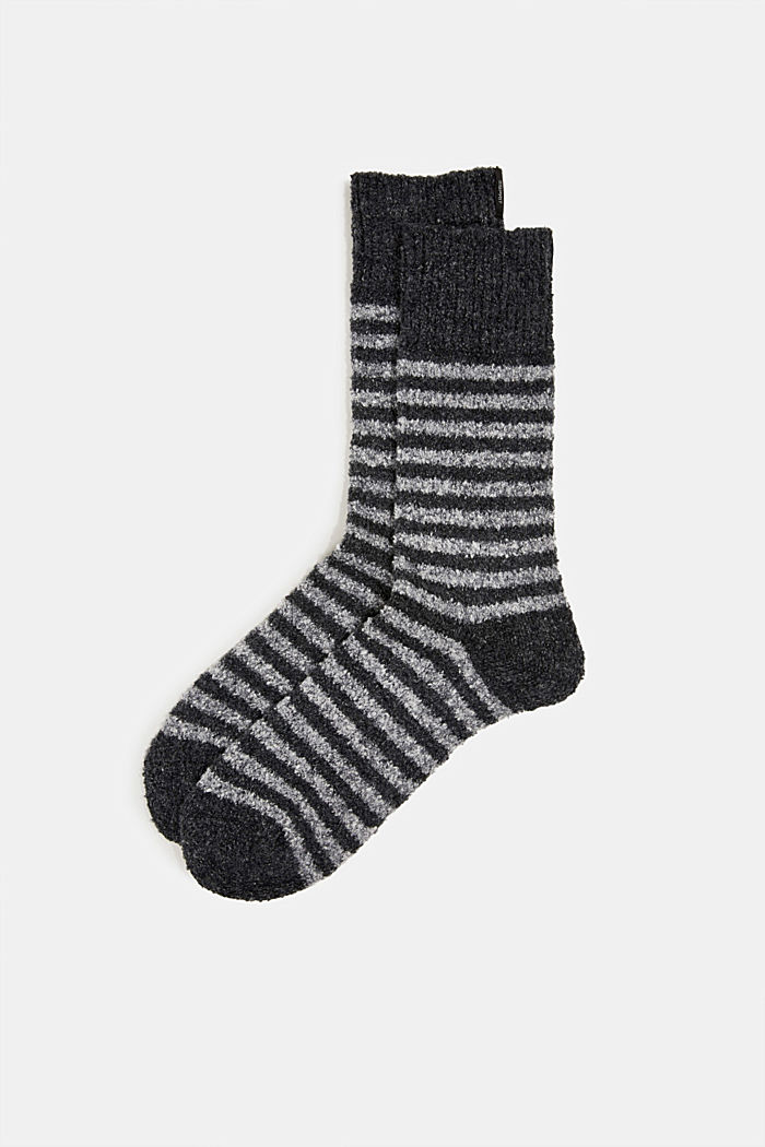 Chunky blended cotton socks, BLACK, detail image number 0