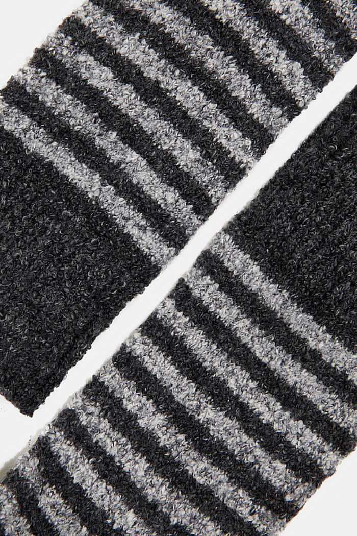 Chunky blended cotton socks, BLACK, detail image number 1