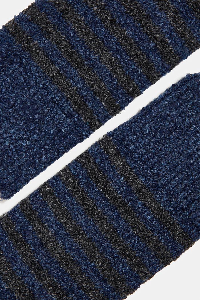 Chunky blended cotton socks, NAVY MELANGE, detail image number 1