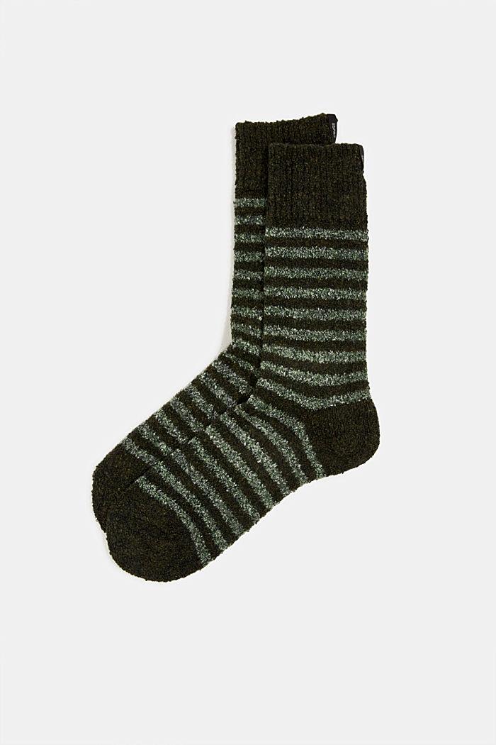 Chunky blended cotton socks, KHAKI, detail image number 0