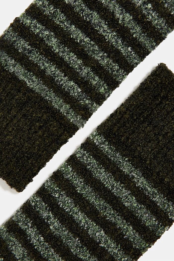 Chunky blended cotton socks, KHAKI, detail image number 1