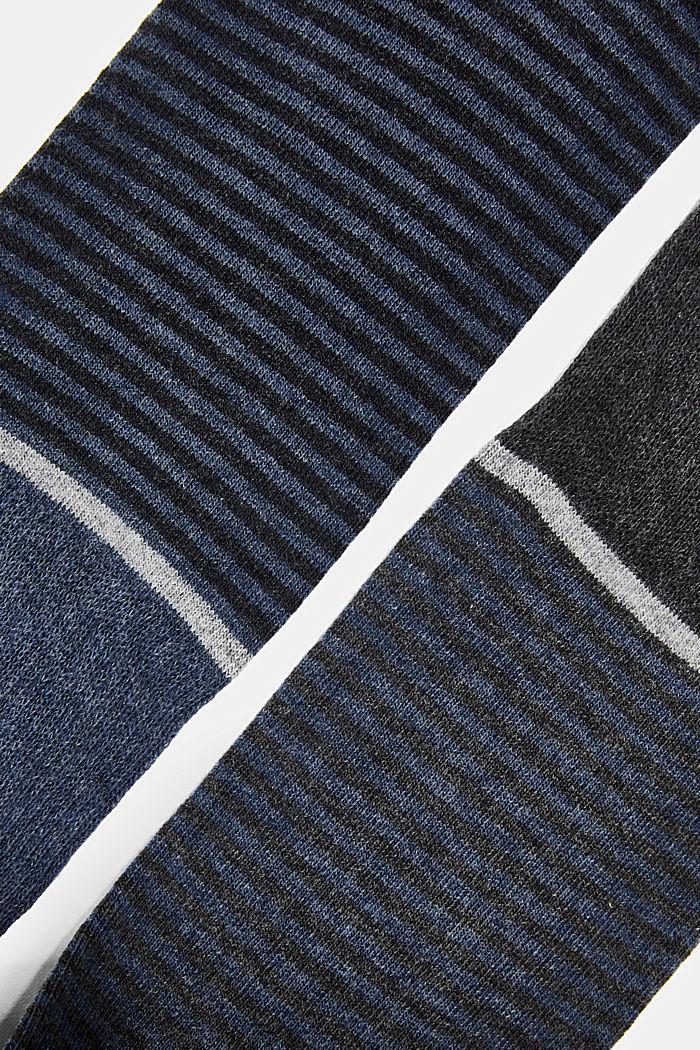 3-pair pack of blended cotton socks, ANTHRACITE MELANGE, detail image number 1