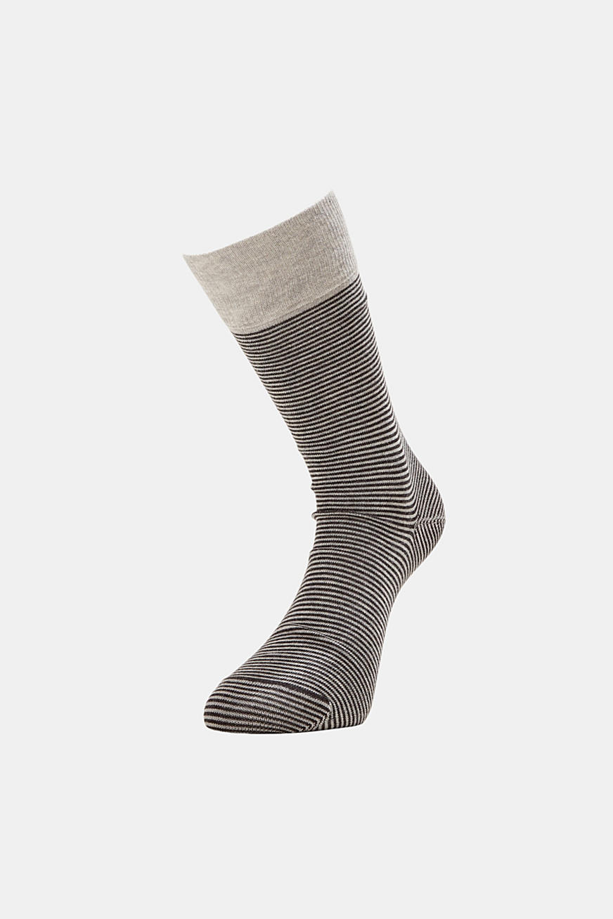 Double pack of striped blended cotton socks