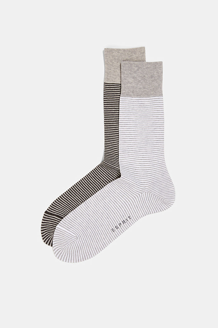 2er-Pack Ringel-Socken aus Baumwoll-Mix