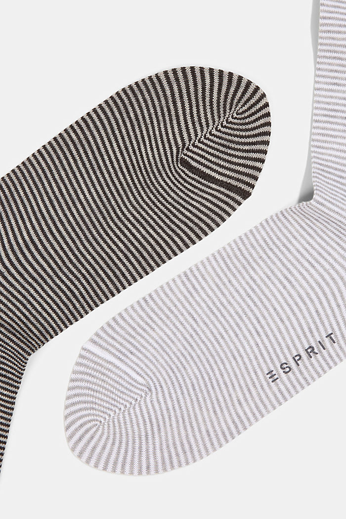2er-Pack Ringel-Socken aus Baumwoll-Mix, GREY, detail image number 1