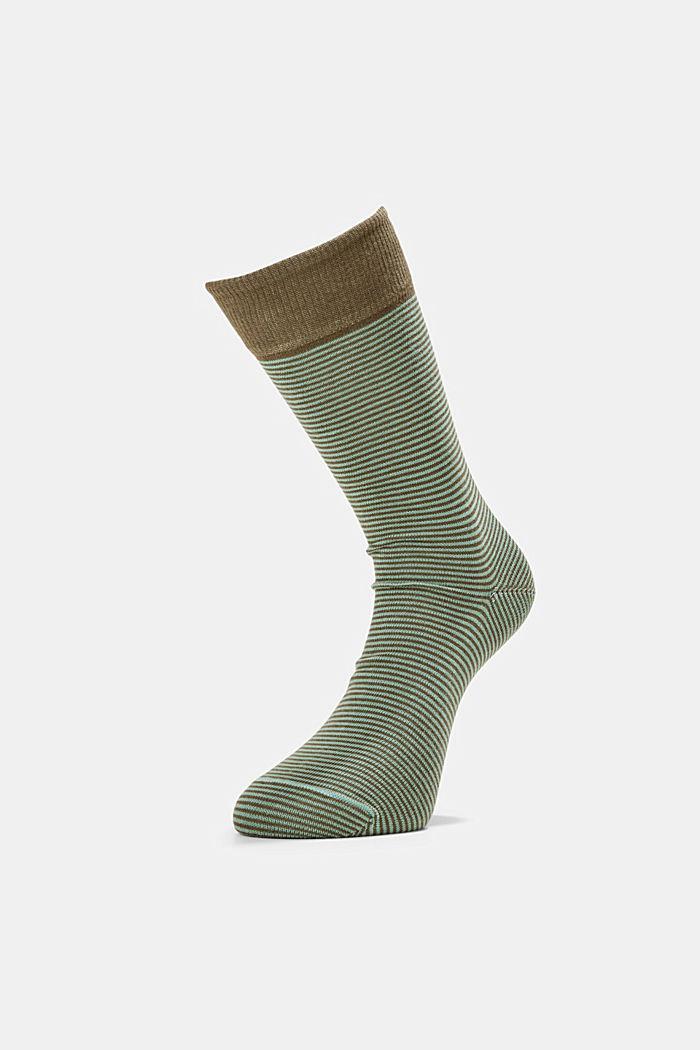 2er-Pack Ringel-Socken aus Baumwoll-Mix, GREEN, detail image number 0