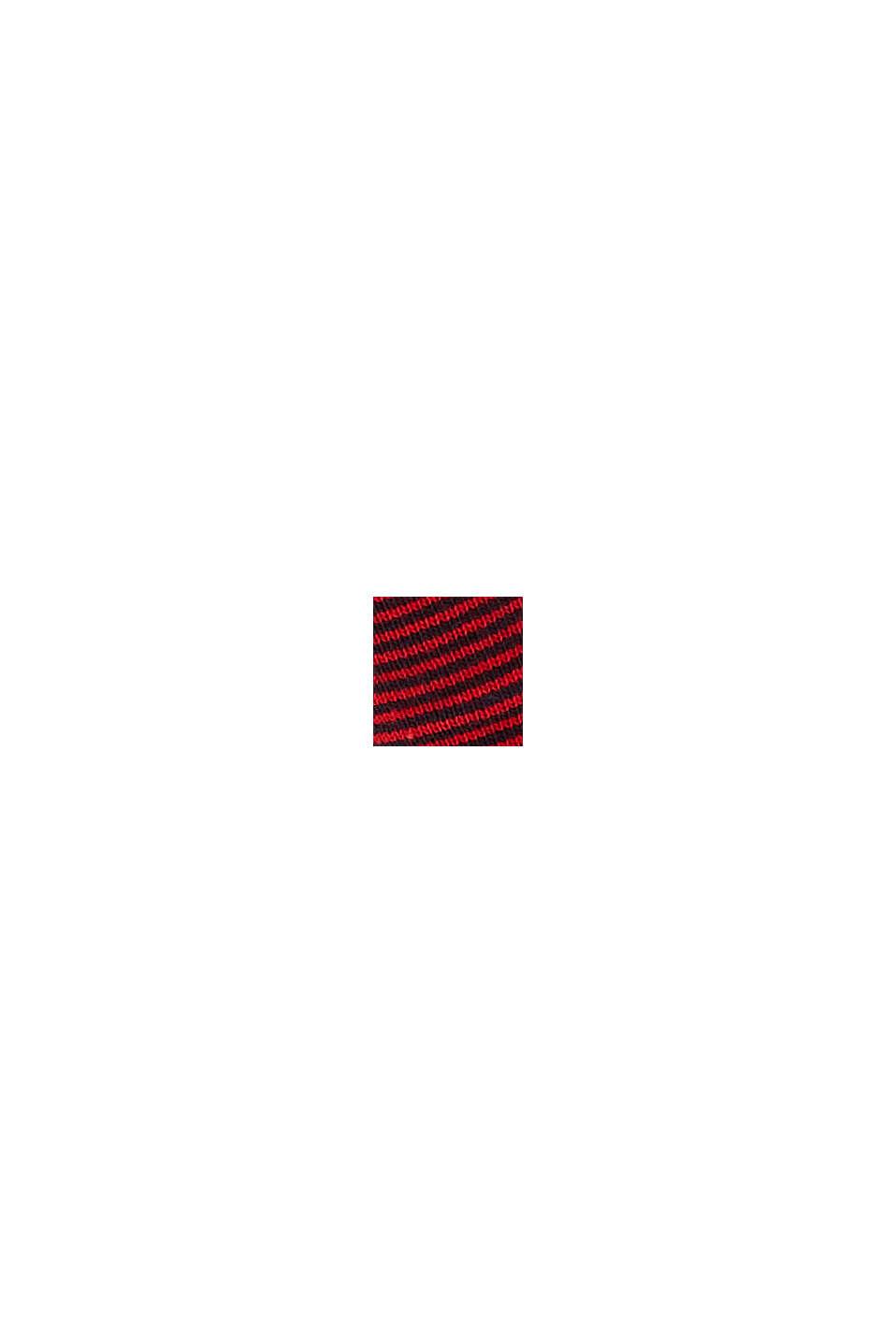 Randiga strumpor i bomullsmix, 2-pack, RED, swatch