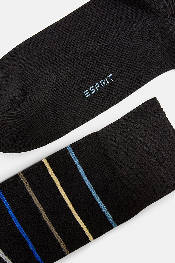 2er Pack Socken aus Baumwoll-Mix, BLACK, detail image number 1