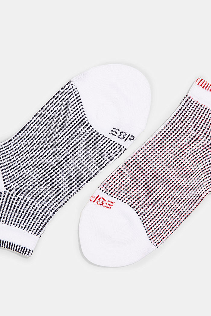 2er-Pack Sneaker-Socken in Piqué-Optik