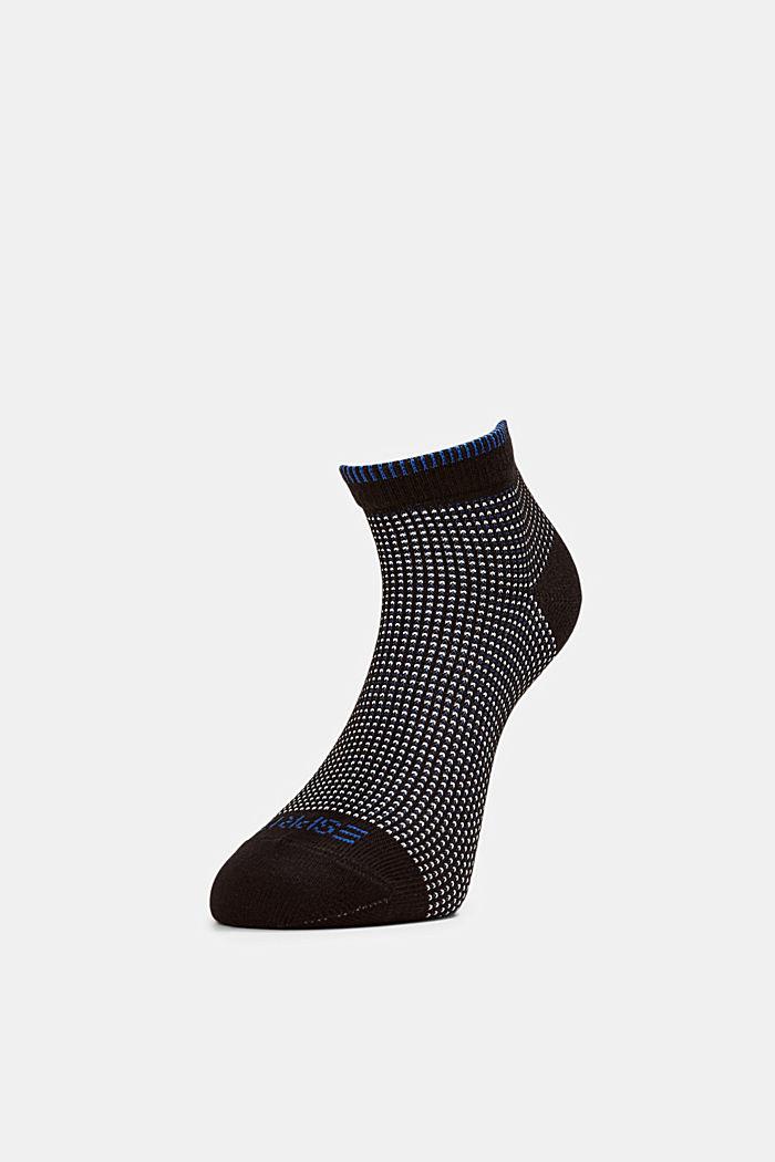 2er-Pack Sneaker-Socken in Piqué-Optik, BLACK, detail image number 0