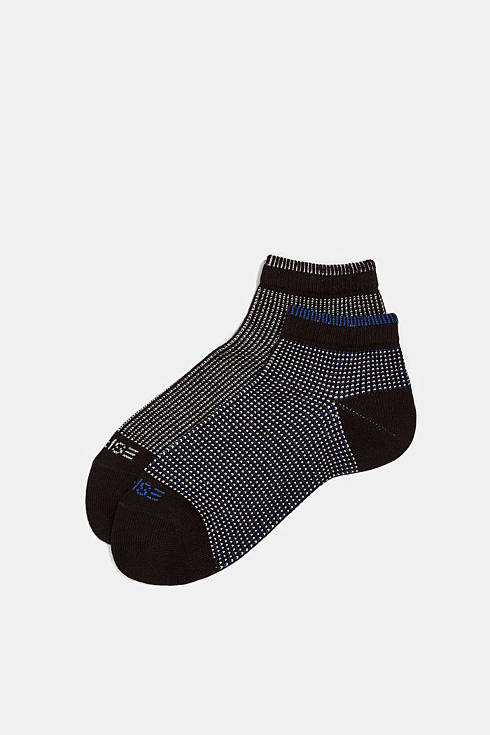 2er-Pack Sneaker-Socken in Piqué-Optik, BLACK, detail image number 2
