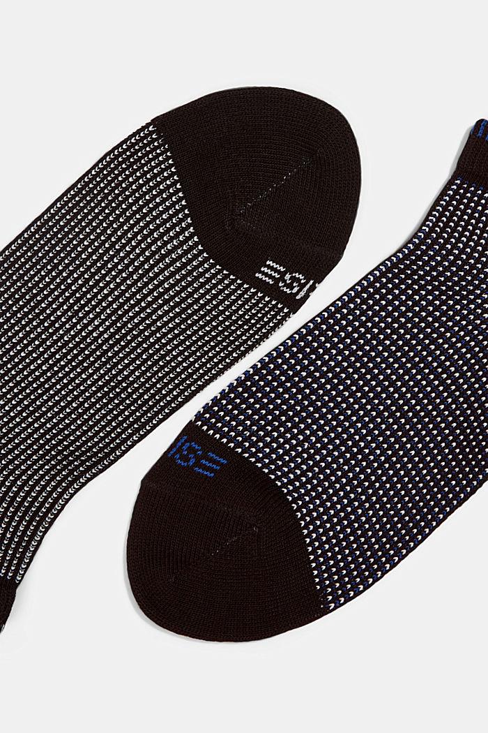 2er-Pack Sneaker-Socken in Piqué-Optik, BLACK, detail image number 1