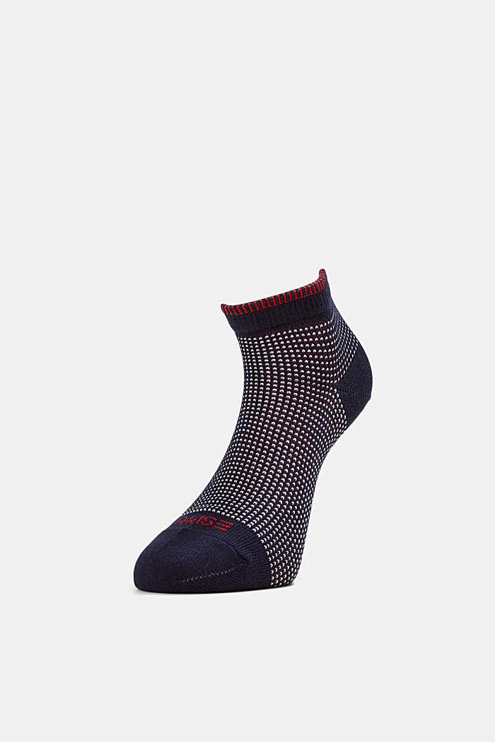 2er-Pack Sneaker-Socken in Piqué-Optik, MARINE, detail image number 0