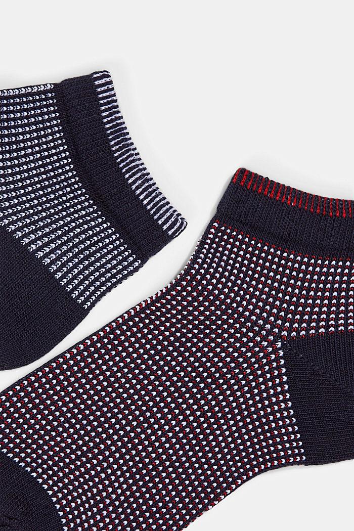 2er-Pack Sneaker-Socken in Piqué-Optik, MARINE, detail image number 1