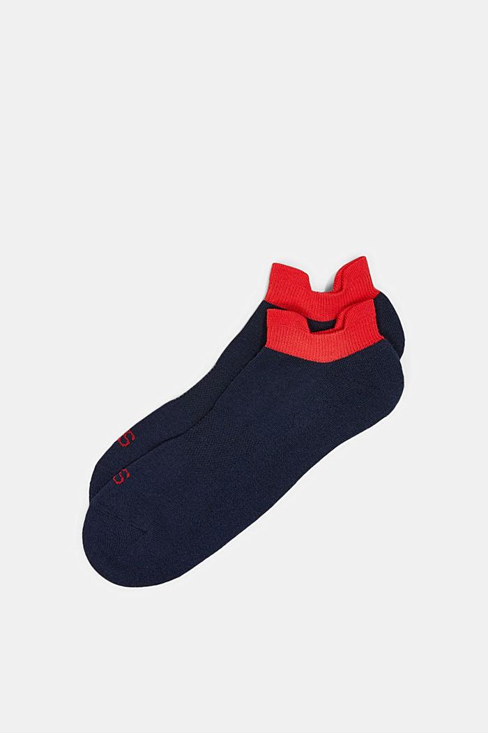 2er-Pack Sneaker-Socken mit Frotteesohle, MARINE, detail image number 0