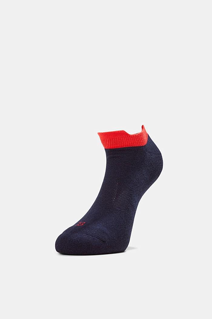 2er-Pack Sneaker-Socken mit Frotteesohle, MARINE, detail image number 2