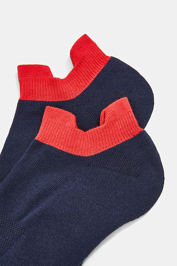 2er-Pack Sneaker-Socken mit Frotteesohle, MARINE, detail image number 1