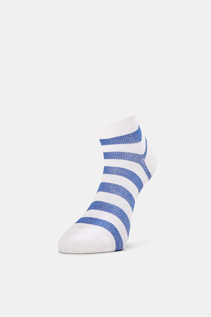 3er-Pack Sneaker-Socken aus Baumwoll-Mesh, WHITE, detail image number 0