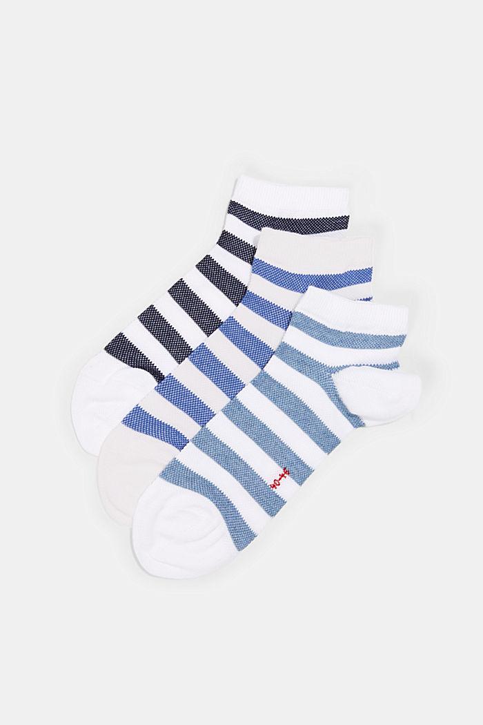 3er-Pack Sneaker-Socken aus Baumwoll-Mesh, WHITE, detail image number 2