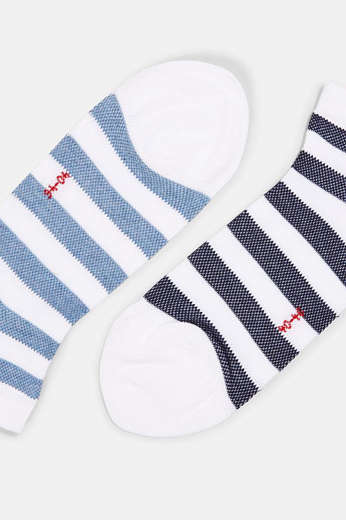 3er-Pack Sneaker-Socken aus Baumwoll-Mesh, WHITE, detail image number 1