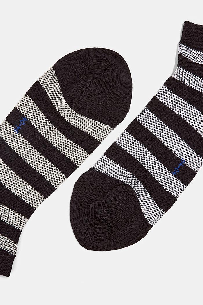 3er-Pack Sneaker-Socken aus Baumwoll-Mesh, BLACK, detail image number 1