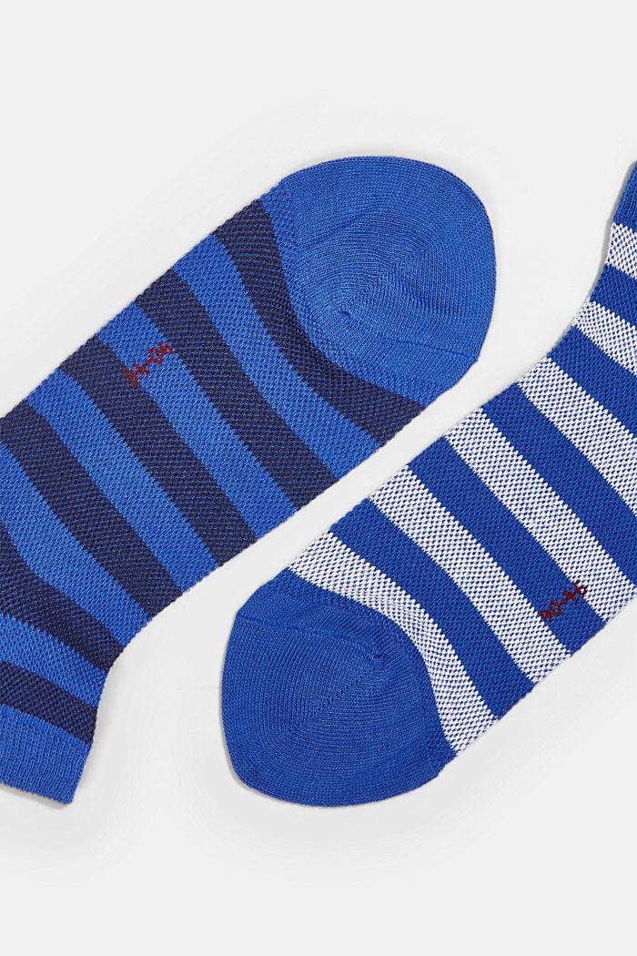 3 paria tennarisukkia puuvillaista verkkomateriaalia, DEEP BLUE, detail image number 1
